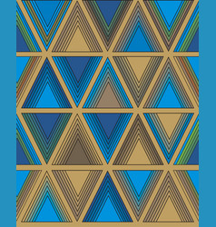 bright pattern of triangles vector image