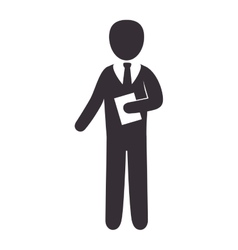 Business man wearing suit and tie vector