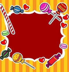 Candy billboard or sign vector