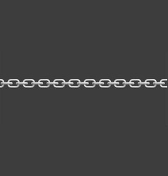 chunky silver chain or metallic necklace realistic vector image