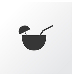 coconut cocktail icon symbol premium quality vector image