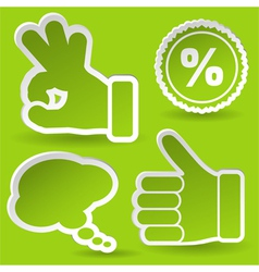 collect sticker vector image