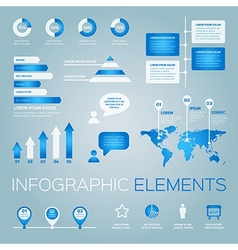 collection infographic elements vector image