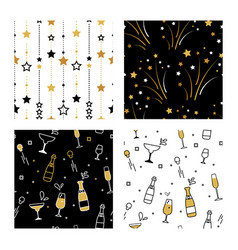 collection seamless pattern designs for vector image