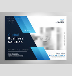Creative blue modern business brochure flyer vector