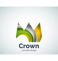 Crown logo template vector
