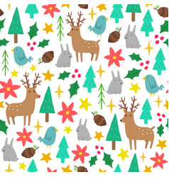 cute cartoon christmas background vector image