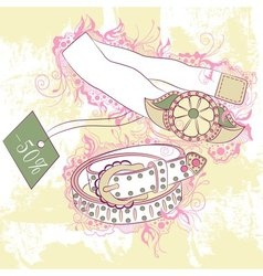 Decorative fashion of womens belts vector