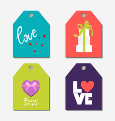 design gift card with a box in a flat style for vector image