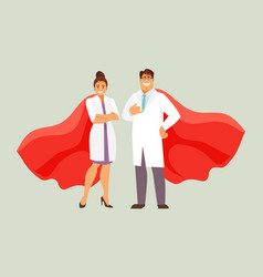 Doctors superheroes vector