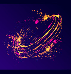 Dots particles flowing vortex abstract background vector