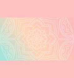 dreamy peach pink gradient wallpaper with mandala vector image