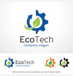 Eco technology logo template design vector