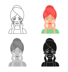 face care icon in cartoon style isolated on white vector image