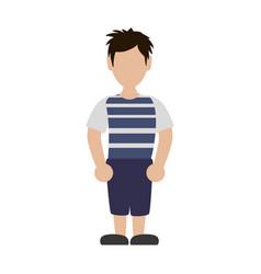faceless man boy vector image