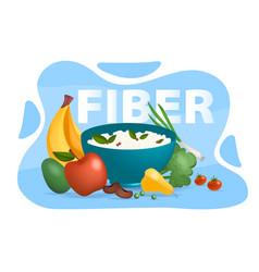 Fiber food concept vector