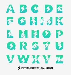 Flash logo a-z symbol electrical icon element vector