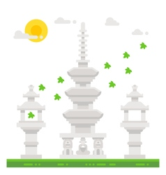 Flat design Haedong temple shrine vector image