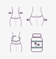Flat line concept process body fitness change vector