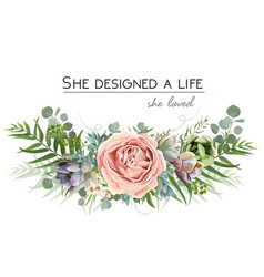Floral bouquet design with garden pink flowers vector