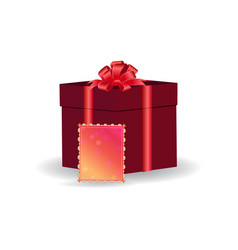gift with a card vector image