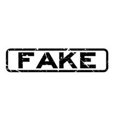 Grunge black fake word square rubber seal stamp vector