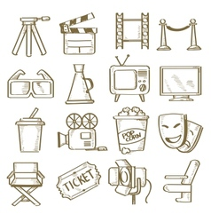 hand drawn movie vector image