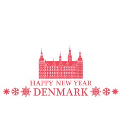 Happy new year denmark vector
