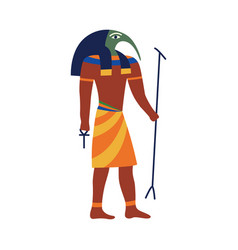 Icon anubis an ancient god egypt flat vector