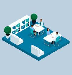 isometric medical room laboratory vector image