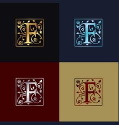 letter f decorative logo vector image