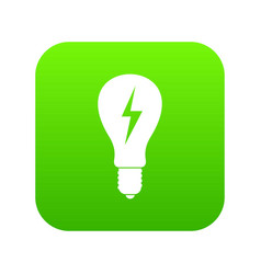 light bulb with lightning inside icon digital vector image
