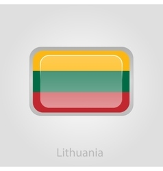 Lithuanian flag button vector image