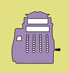 logo style retro outlines cash register till vector image