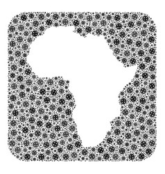 Map africa - covid mosaic with hole vector
