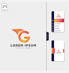 Minimal g initial logo template free business vector