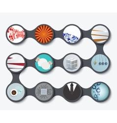 modern set business backgrounds vector image