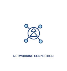 networking connection concept 2 colored icon vector image