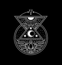 Occult esoteric cosmos vector