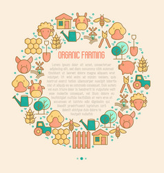 organic farming concept in circle vector image
