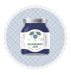 Packaging dewberry blackberry jam label vector