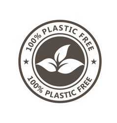 plastic free product icon - eco seal for non vector image