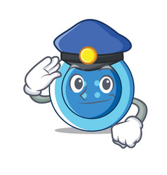 police clothing button character cartoon vector image