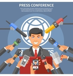 Press Conference Concept vector