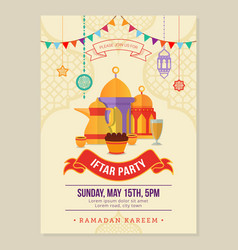 ramadan iftar party design poster and banner vector image