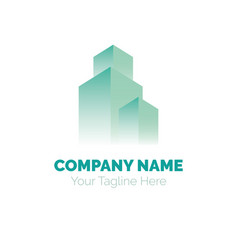 Real estate logo design template building vector
