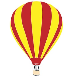 Red and yellow air balloon vector image
