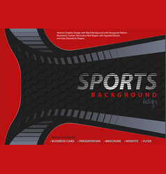 Red-black background in sport design style vector