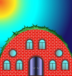Round house with windows vector image