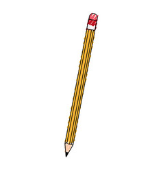 scribble pencil cartoon vector image